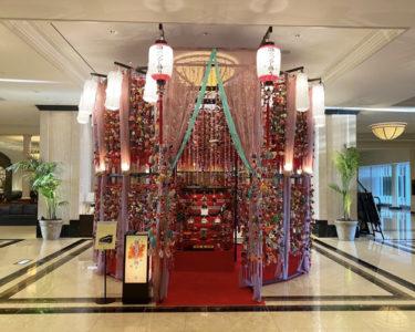 マリオットアソシアホテルの雛のつるし飾り・・・【千葉】
